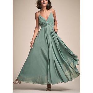 Anthropologie / BHLDN  Eva Dress in Moss Green
